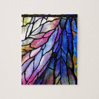 Gebrandschilderd glas door Tiffany Legpuzzel