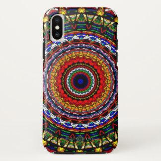 Gebrandschilderd glas Mandala iPhone X Hoesje
