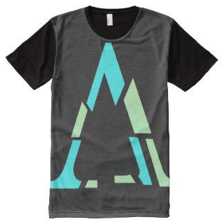 Gebroken Brief All-Over-Print T-shirt