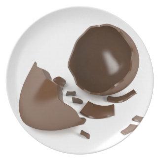 Gebroken chocoladeei bord