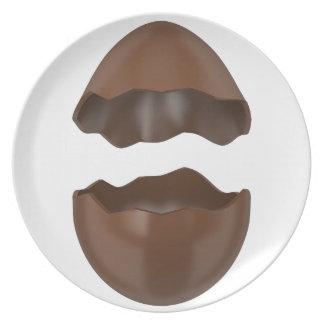 Gebroken chocoladeei melamine+bord