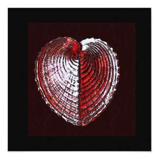 Gebroken Shells van het Hart 13,3x13,3 Vierkante Uitnodiging Kaart