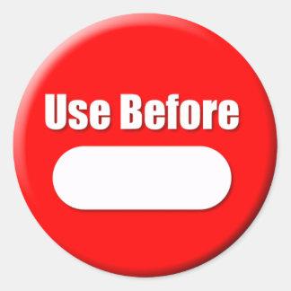 Gebruik vóór (Kleine) Sticker