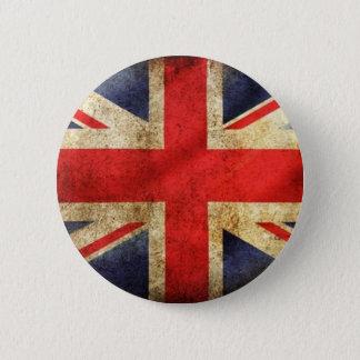 Gecentreerde Knoop van de Vlag van Grunge de Ronde Button 5,7 Cm