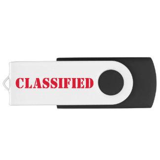 Geclassificeerd USB 3.0 Swivel USB 3.0 Stick