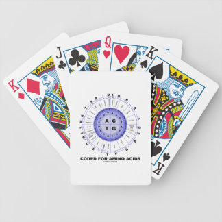 Gecodeerd voor Aminozuren (Genetische DNA van de Poker Kaarten