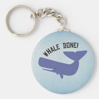 Gedaane walvis sleutelhanger