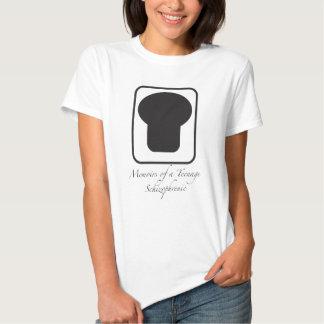 Gedenkschriften van Tiener Schizofrene Vrouwen T-shirts