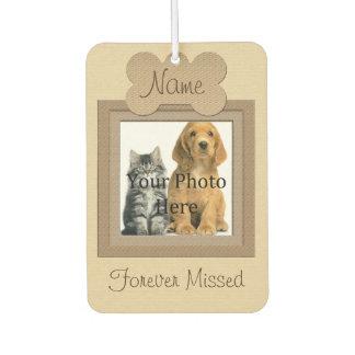 Gedenkteken van het Huisdier van de hond of van de Auto Luchtverfrissers