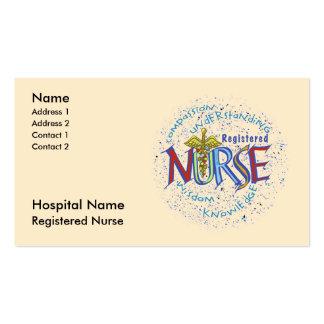 Gediplomeerd verpleger visitekaartjes sjabloon