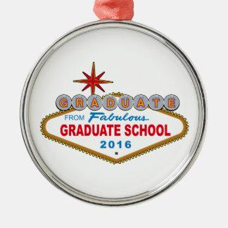Gediplomeerde van Fabelachtige Gediplomeerde Zilverkleurig Rond Ornament