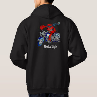 Gedrukte de Kleur van de Motorfiets van de Krab Hoodie