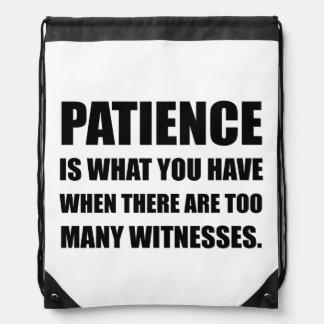Geduld Teveel Getuigen Trekkoord Rugzakje