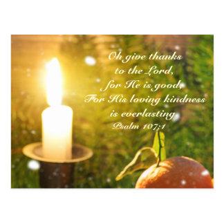 Geef Bedankt aan Lord, Psalm 107 Briefkaart