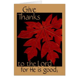 Geef Bedankt aan Lord Thanksgiving Prayer Card Kaart