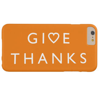 Geef bedankt met uw hart, het bericht van de barely there iPhone 6 plus hoesje