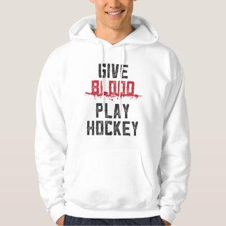 GEEF BLOED | HOCKEY van het SPEL - ijshockey Hoodie