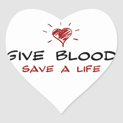 Geef bloed sparen het leven hartvormige stickers zazzle for Zuinig leven en sparen