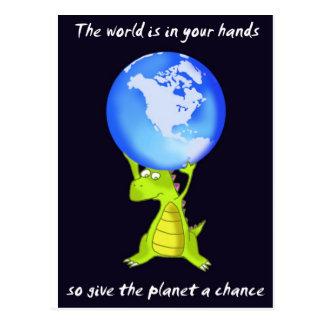 geef de planeet een kans briefkaart