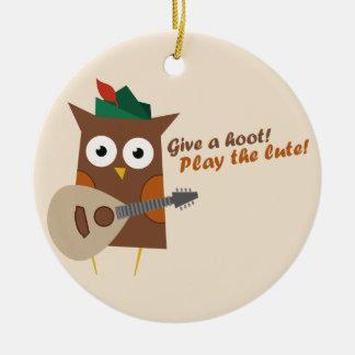 Geef een Krasgeluid Leuke Uil Rond Keramisch Ornament