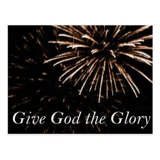 geef God de Glorie Briefkaart