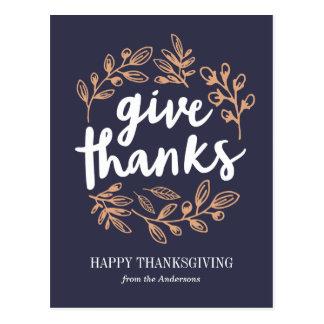 Geef het Manuscript van het Bedankt Briefkaart