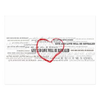 Geef Liefde Inspirerend briefkaart