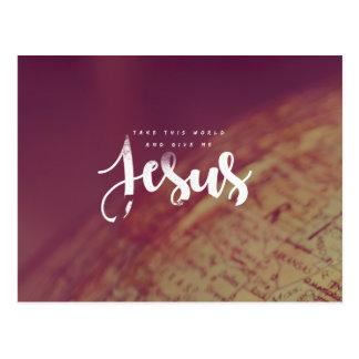 Geef me Jesus Briefkaart