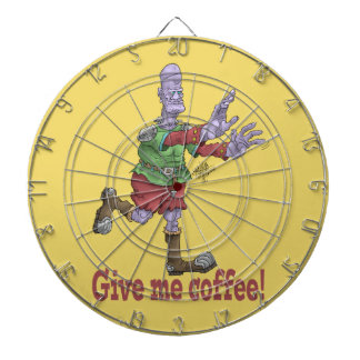 Geef me koffie, dartboard. dartborden
