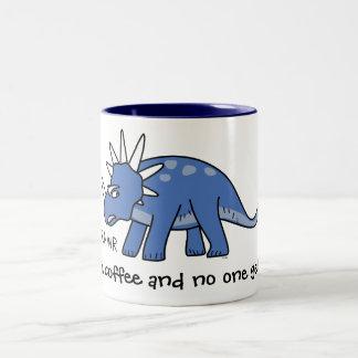 Geef me koffie en niemand wordt gekwetst! De Tweekleurige Koffiemok