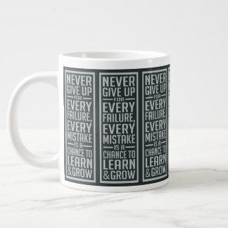 GEEF NOOIT motivatie jumbomok op Grote Koffiekop