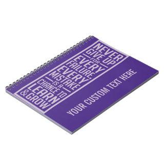 Geef nooit motivatie notitieboekje op ringband notitieboek