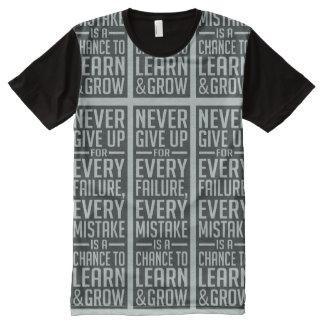 GEEF NOOIT motivatie t-shirt op