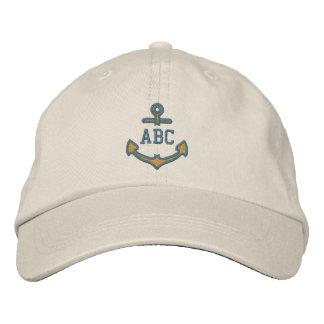 Geef Uw ZeevaartAnker 123 van het Monogram Geborduurde Pet