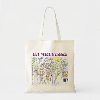 Geef Vrede een Bolsa van de Kans Canvas Tas