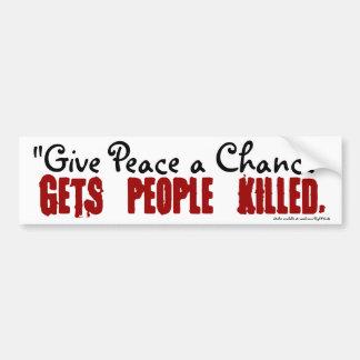 Geef Vrede een de bumpersticker van de Kans