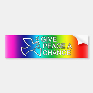 Geef Vrede een Kans Bumpersticker