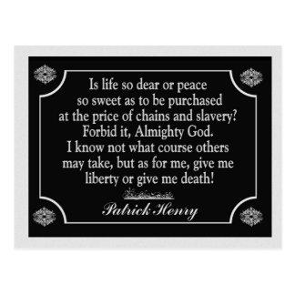Geef Vrijheid of geef me dood - briefkaart