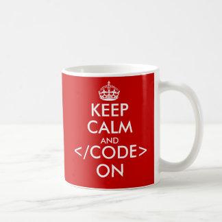 Geeky houdt kalm en code inzake mok voor