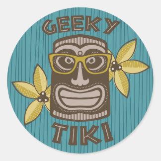 Geeky Tiki Ronde Sticker