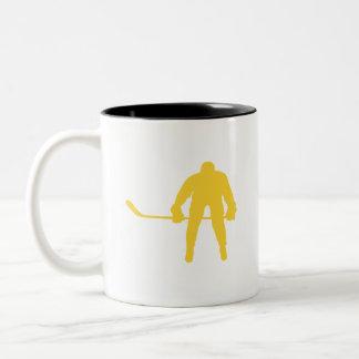 Geel AmberHockey Tweekleurige Koffiemok