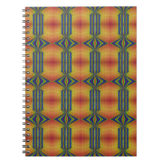 geel blauw zuidwestelijk ontwerp ringband notitieboeken