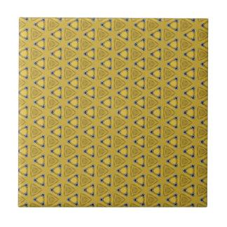 Geel Driehoekig Patroon Keramisch Tegeltje