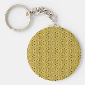 Geel Driehoekig Patroon Sleutelhanger
