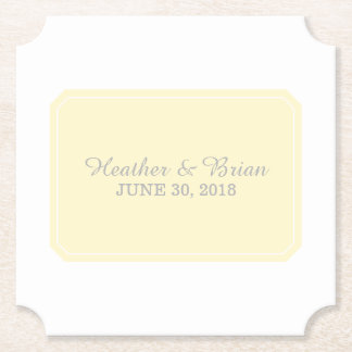 Geel eenvoudig Elegant Huwelijk Viltjes