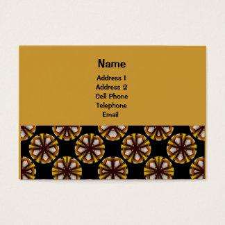 Geel en bruin cirkelpatroon visitekaartjes