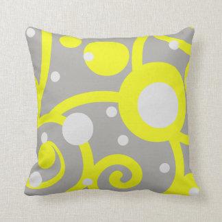 geel en grijs abstract patroonhoofdkussen sierkussen