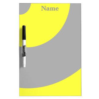 Geel en Grijze heup Whiteboard