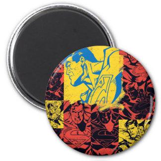 Geel en Rode superman Koelkast Magneetje