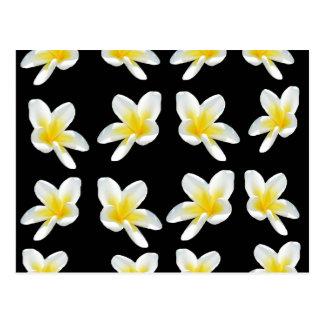 Geel en Zwart Patroon Frangipani, Briefkaart